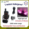 2000 meter range waterproof electric shock device with vibrate