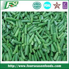 Iqf congelado feijão verde Whole / cortes