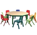 Crianças mobília do salão de mesa e cadeira set, estudo de mesa e cadeira set, escola de mesa e cadeira set