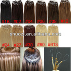 20 inch micro ring simplicity hair extension 5A grade fashionable Peruvian virgin remy hair