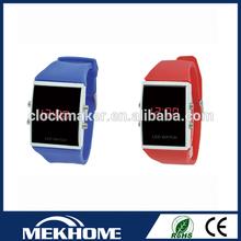 Watch Led Yellow Sports Watch Thin Digital Watch , Stainless steel case back waterproof digital
