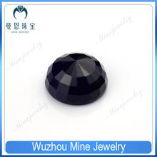 alibaba express round pagodas shaped deep blue glass stone in loose gemstone