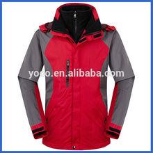 Polyester taslon winter ski jacket men
