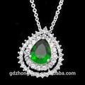 925 Sterling Silver Jewelry Wholesale Pendant Imitation zircon gemstone necklace wedding jewelry WX3506