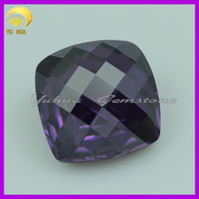 Hot sale high quality Square cubic zirconia gems Amethyst color CZ gemstone for jewelry