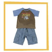 2015 Cheap 2pcs Fashion Design Small Baby Boy Clothes Sets