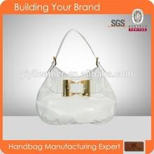 gu32065 White Genuine hobo Leather Bag Manufacturer Brand Handbags Woman