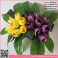 Decorativa flores tulipa artificial, buquê de flores artificiais atacado