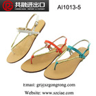 popular latest fashion fancy wholesale weave strap comfortable flip flops flat lady sandals