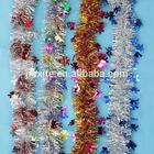 PVC/PET glitter foil Christmas tinsel Christmas tinsel garland decoration, wholesale