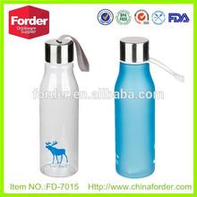600ml tritan plastic frosting bottle stainless steel bottle cap