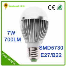Hot selling promotion CE ROHS SMD5730 7w 3v flash light led replacement bulb