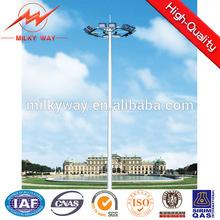 hot dip galvanized 25 meter high mast light for train station
