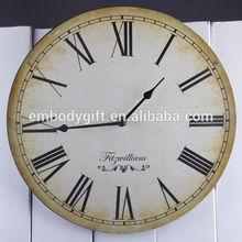 Retro decorative wooden wall clock
