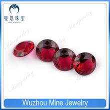 Factory Price Round Shape Ruby 5# Corundum Gemstone
