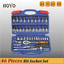 """1/4"""" Dr.46PCS Socket Set/High Quality Bits German Standard Socket Set"""