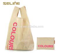 Fashion new design reusable folding nylon shopping bag