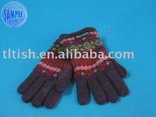 2012 fashional 100% acrylic winter warm knitting glove