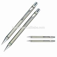 Stainless steel gift pen,metal pen1968,ball pen+Mechanical pencil