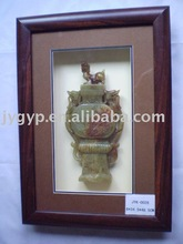 jade stone carving picture for home decoration