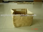 small drawstring jute bag