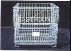 Wire Mesh Storage Folding & Stackable Steel Basket
