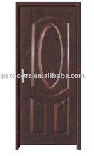 American popular steel door with pine wood edge in Guangzhou