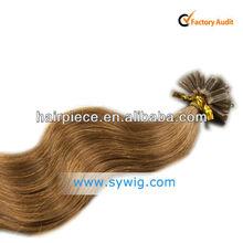 Human hair extension u tip,ultrasonic machine cold fusion hair extension,keratin tipped fusion hair extension