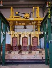 Brick making machine (automatic brick unloading system)
