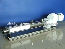 Xinglong sanitary progressive displacement single screw pump used in the beer brewing processing