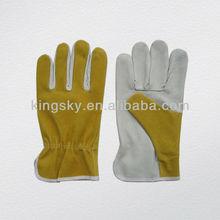 pig grain palm split back driver glove