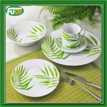 20pcs simple design floral decal porcelain dinnerware/round shape