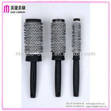 Plastic hair accessory ceramic brush roll hairbrush