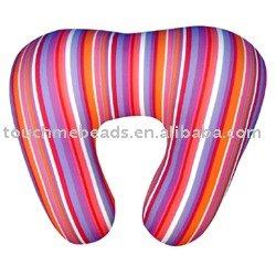 u shape micro beads stuffed neck pillow travel pillow