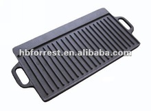 seasoned cast iron grill plate with handle