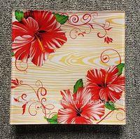 custom design high quality tempered glass plate/tableware