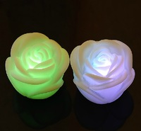 7 Auto Changing Light Mood LED Rose Candles Wedding Party Spa Bath