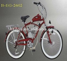 beach bicycle with gasoline engine