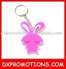 cute animal pvc keychain/keyring