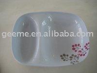 melamine divided plate