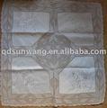 patchwork de crochet do laço toalha de mesa