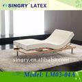 eléctrica ajustable cama con colchón de látex