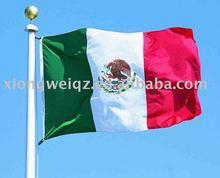 Mexico country flag polyester satin car flag hand flag