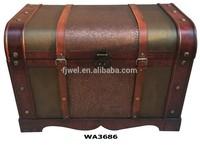 Decorative Antique Leather Storage Trunk