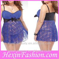 Hot sale elegant fashion plus size sexy big breast lingerie
