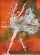beautiful dancing girl Ballet painting