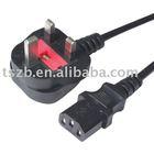UK 3 Pin Plug to C13 Plug Mains Lead