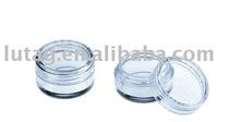 Round Plastic Cosmetic pressed powder case supplier