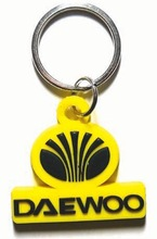 Factory custom hand crafts 3D soft PVC rubber keychain for car brand car promotional gifts