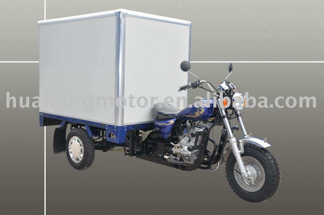 Fermé Cargo tricycle, Trois roues, Trois roues de moto ( avec option moteurs )
